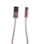 USB дата-кабель COTEetCI M20 NYLON series Type-C Cable CS2128-0.2M-MRG (0.2m) Розовое-золото