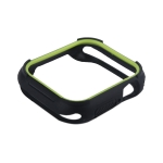 Чехол силиконовый COTEetCI PU+TPU case для Apple Watch Series 4 (CS7052-BY) 44мм Черный (салатовый ободок)
