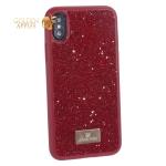 Чехол-накладка силиконовая со стразами SWAROVSKI Crystalline для iPhone X Красный
