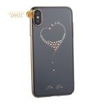 Чехол-накладка KINGXBAR для iPhone XS Max (6.5) пластик со стразами Swarovski 49F золотистый (The One)