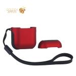 Чехол противоударный COTEetCI (AP8) Armor Case (TPU&PC) для AirPods с ремешком CS8123-RB Красно-черный