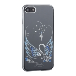 Чехол-накладка Kingxbar для iPhone 7 пластик со стразами Swarovski 49F Лебединая Любовь серебристый