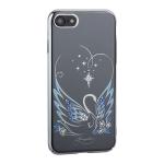 Чехол-накладка Kingxbar для iPhone 8 пластик со стразами Swarovski 49F Лебединая Любовь серебристый