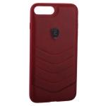 Накладка PULOKA для iPhone 8 Plus PC+TPU волны Красная