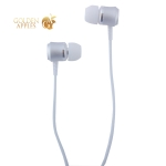Наушники Hoco M46 Jewel sound universal Earphones with mic (1.2 м) с микрофоном Silver Серебристые
