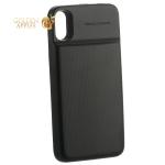 Аккумулятор-чехол внешний Baseus 1+1 Wireless Charge Backpack 5000 mAh (ACAPIPHX-ABJO1) для iPhone X  черный