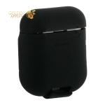 Чехол силиконовый Baseus Wireless charger для AirPods с поддержкой беспроводной зарядки WIAPPOD-01 Черный
