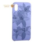 Чехол-накладка силиконовый Silicone Cover для iPhone XS Орхидея Сиреневый
