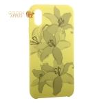 Чехол-накладка силиконовый Silicone Cover для iPhone XS Орхидея Желтый