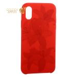 Чехол-накладка силиконовый Silicone Cover для iPhone XS Орхидея Красный
