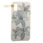 Чехол-накладка силиконовый Silicone Cover для iPhone XS Орхидея Бежевый