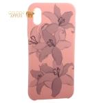 Чехол-накладка силиконовый Silicone Cover для iPhone XS (5.8) Орхидея Розовый