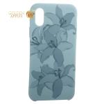 Чехол-накладка силиконовый Silicone Cover для iPhone XS (5.8) Орхидея Бирюзовый
