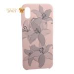 Чехол-накладка силиконовый Silicone Cover для iPhone XS Орхидея Светло-коралловый
