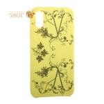 Чехол-накладка силиконовый Silicone Cover для iPhone XS (5.8) Узор Желтый