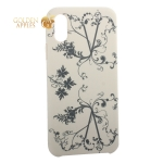 Чехол-накладка силиконовый Silicone Cover для iPhone XS (5.8) Узор Бежевый