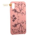 Чехол-накладка силиконовый Silicone Cover для iPhone XS (5.8) Узор Розовый