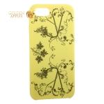 Чехол-накладка силиконовый Silicone Cover для iPhone SE (2020г.) Узор Желтый