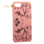 Чехол-накладка силиконовый Silicone Cover для iPhone 7 (4.7) Узор Розовый