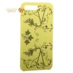 Чехол-накладка силиконовый Silicone Cover для iPhone 7 Plus Узор Желтый