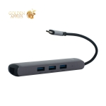 Переходник Baseus Mechanical eye Six-in-one HUB 6в1 (CAHUB-J0G) Type-C to USB3.0x3/ HDMI/ Lan/ Type-C PD для MacBook Графитовый