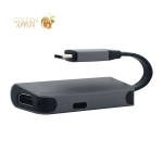 Переходник Baseus Little box (CAHUB-EOG) Type-C to HDMI/ Type-C для MacBook Графитовый
