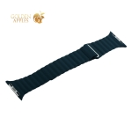 Ремешок кожаный COTEetCI W7 Leather Magnet Band (WH5206-GR) для Apple Watch 44 мм Зеленый