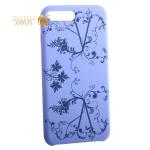 Чехол-накладка силиконовый Silicone Cover для iPhone 7 Plus Узор Сиреневый