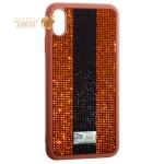 Чехол-накладка силиконовая со стразами SWAROVSKI Crystalline для iPhone XS Max  Коричневый
