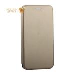Чехол-книжка кожаный Innovation Case для iPhone XS Золотой
