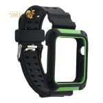 Ремешок COTEetCI W39 Integrated Movement Band (WH5268-BG) для Apple Watch 42 мм Черно-Зеленый