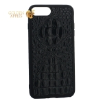 Накладка кожаная Vorson под крокодила для iPhone 7 Plus силиконовый борт Черная