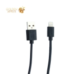 USB дата-кабель BoraSCO ID 20547 charging data cable 2A Lightning (витой 2.0 м) Черный