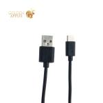 USB дата-кабель BoraSCO ID 21974 charging data cable 2A Type-C (витой 2.0 м) Черный