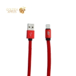USB дата-кабель BoraSCO ID 34450 в нейлоновой оплетке 3A Lightning (1.0 м) Красный