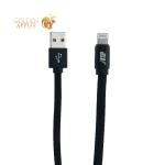 USB дата-кабель BoraSCO ID 34451 в нейлоновой оплетке 3A Lightning (1.0 м) Черный