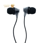 Стереогарнитура BoraSCO BSH-02 ID35814 Universal Earphones with mic (1.1 м) с микрофоном Черная