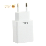 Адаптер питания Hoco C51A Prestige power dual port charger (2USB: 5V max 3.4A) Белый