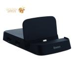 Док-станция&USB-концентратор Type-C Baseus Mate Docking HUB 7в1 (CAHUB-T01) USB3.0x1/ USBx2/ Type-C/ 4K/ MicroSD/ SD Черный