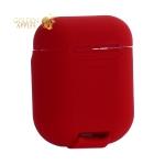 Чехол силиконовый Baseus Wireless charger для AirPods с поддержкой беспроводной зарядки WIAPPOD-09 Красный