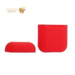 Чехол силиконовый для AirPods Case Protection ультратонкий Красный