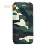 Чехол-книжка кожаный Innovation Case для iPhone 6S/ 6 Камуфляж