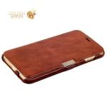 Чехол-книжка кожаный i-Carer для iPhone 6s Plus/ 6 Plus (5.5) vintage series side-open (RIP6003br) коричневый