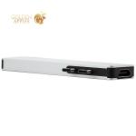 Переходник Deppa Thunderbolt C 7в1 (73122) Type-C to USB3.0x2/ HDMI/ Thunder3/ Type-C/ SD/ MicroSD для MacBook Серебристый