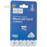 Карта памяти Hoco micro SD Card 4Gb Class6