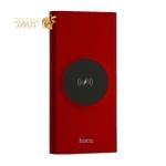 Аккумулятор внешний универсальный & беспроводное зарядное устройство Hoco J37- 10 000 mAh (2USB:5V-2.0A Max) Красный