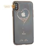 Чехол-накладка KINGXBAR для iPhone X (5.8) пластик со стразами Swarovski 49F золотистый (The One)