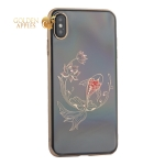 Чехол-накладка KINGXBAR для iPhone XS Max (6.5) пластик со стразами Swarovski 49F золотистый (Рыбка)