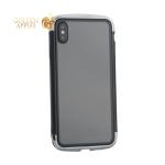 Чехол-накладка Element Case (AERO - DRAGO) закаленное стекло для iPhone XS Max (6.5) Серебристый