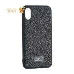 Чехол-накладка силиконовая со стразами SWAROVSKI Crystalline для iPhone X (5.8) Черный №2